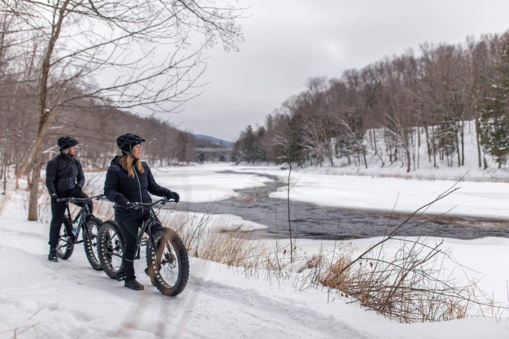 Vélos d'hiver - Fat bike - au Mont-Tremblant