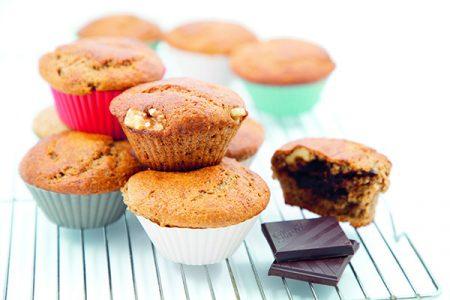 Muffins aux bananes au cœur chocolaté